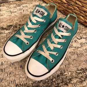 Turquoise Blue Green Converse Low Top Sneakers